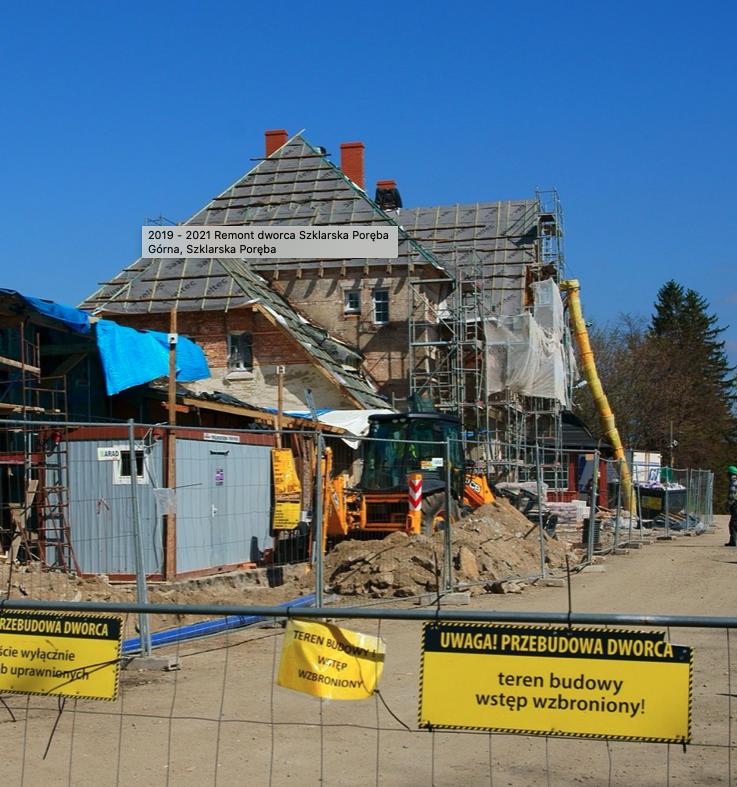 Dworzec kolejowy Szklarska Poręba – prace w zabytku – trwa budowa